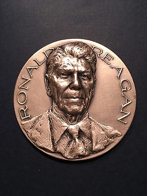 1981 Official Large SILVER  Inaugural Medal - President Ronald Reagan