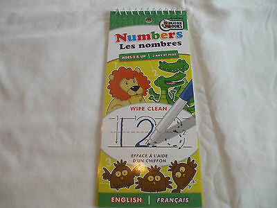 Beaver Books English & French Numbers Wipe Clean Pad Ages 3+
