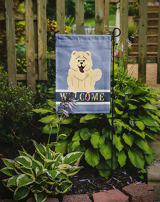 Carolines Treasures  BB5721GF Chow Chow White Welcome Flag Garden Size