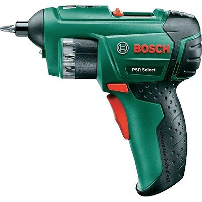 Bosch PSR Select Cordless Lithium-Ion Screwdriver 3.6 V Battery, 1.5 Ah Boxed