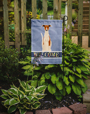 Carolines Treasures  BB5680GF Whippet Welcome Flag Garden Size