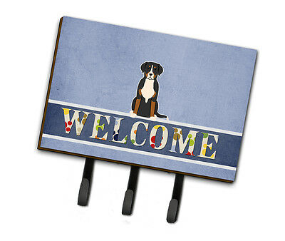 Greater Swiss Mountain Dog Welcome Leash or Key Holder