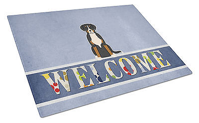 Greater Swiss Mountain Dog Welcome Glass Cutting Board Large