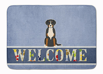 Greater Swiss Mountain Dog Welcome Machine Washable Memory Foam Mat