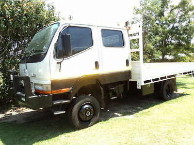 2006 Mitsubishi Canter 4x4 Crew Cab TURBO DIESEL LOW KMS LOVELY TRUCK NOT TIPPER