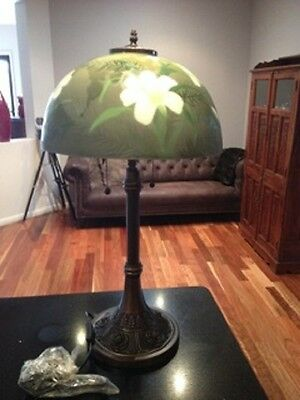 ART GLASS LARGE TABLE LAMP - BRAND NEW (Reduced!!) RRP $269