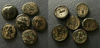 PC#48 (6) Lot Ancient Greek Bronze Coin 27.6g 19mm