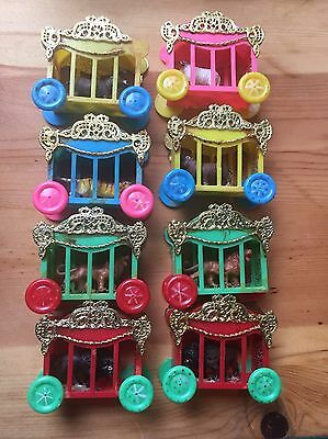 Rare Vintage Set Circus Animal Cages- Light Cover Set Tiger/ Hippo/Lion/Bison
