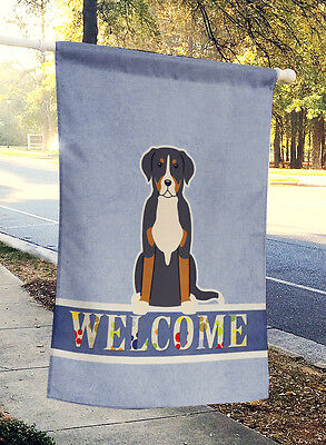 Greater Swiss Mountain Dog Welcome Flag Canvas House Size