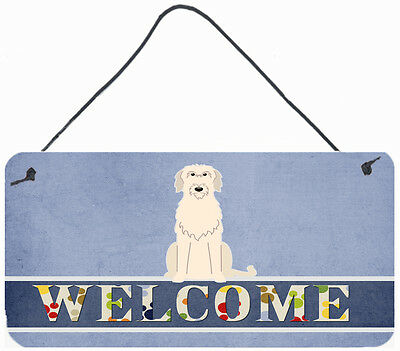 Irish Wolfhound Welcome Wall or Door Hanging Prints