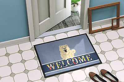 Chow Chow White Welcome Indoor or Outdoor Mat 18x27