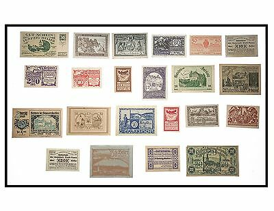 1920's Lot of 22 Austrian Not Geld Paper Notes