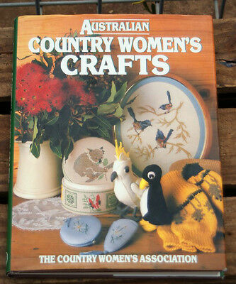 AUSTRALIAN COUNTRY WOMENS CRAFTS book CWA Knitting embroidery sewing dolls bark