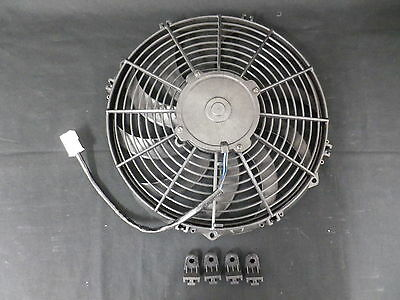 Special Over Stocked Thermo Fan Black 12 Inch Reversible Curved Blade