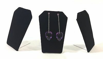 3 Pcs Mini Black Velvet Earring or Necklace Stand Jewelry Showcase Display