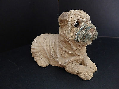 "Stone Critters ""Shar Pei"" SC-316 figurine 1988 Made in USA"