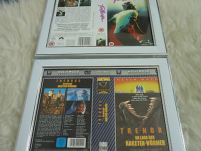 Kevin bacon Footloose cic & Tremors Import Cover Double Vhs sleeve Framed
