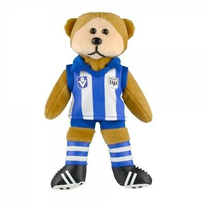 Nth Melbourne Kangas Heritage Player Bear  - Official AFL Beanie Kid 30cm