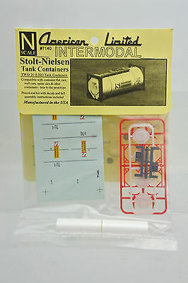 American Limited N Scale 7140 Stolt-Nielsen Tank Containers 2 20-Ft Iso Tank