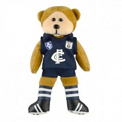 Carlton Blues Heritage Player Bear  - Official AFL Beanie Kid 21cm