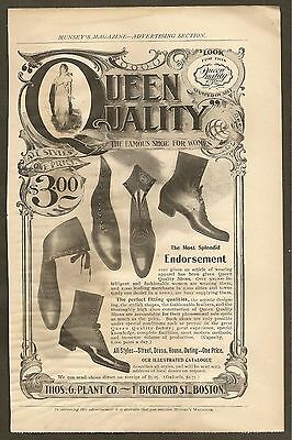 Vintage (1899) Queen Quality Shoes Ad From Munsey's Magazine