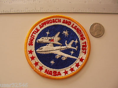Rare Artcraft Swiss Embroidery Patch Space Shuttle Enterprise + Stamp NASA ALT