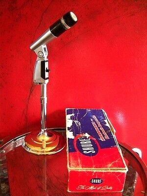 Vintage 1960's Shure Brothers 545 S dynamic cardioid microphone w accessories
