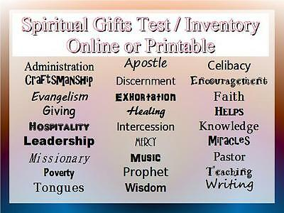 Spiritual Gifts Test / Inventory / Survey / Assessment Tool (Online / Printable)