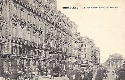 Bruxelles Belgium Brussels Grand Hotel Anspach - litho 1910 - Very Good