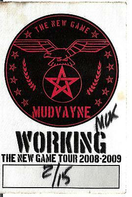 MudVayne Working Sticky Pass 2/15/08 Pearl Room Mokena, Il The New Game Tour