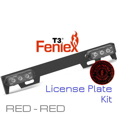 Feniex T3 License Plate Kit NEW RED