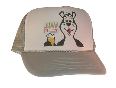 Vintage Hamm's Beer Bear hat Trucker hat mesh hat adjustable Gray