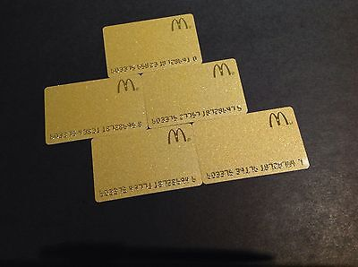 Canada  Mcdonalds  Gold Gift  Card / Arch Card - Lot Of 5 Pcs - New