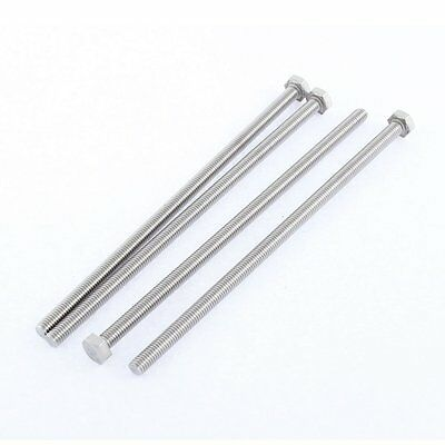 M6 x 150mm Fully Threaded Stainless Steel Hex Head Screw Bolt 4 Pcs