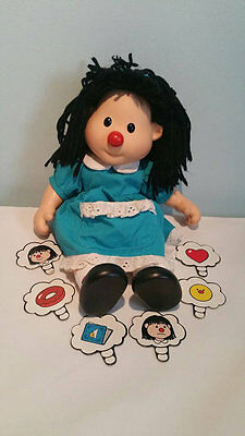 """Big Comfy Couch Molly Doll with thought bubbles 13"""" PLAYMATES Vintage 1996 RARE"""