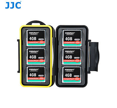 JJC Water-Resistant Hard Storage Memory Card Case For 6 CF Compact Flash Cards