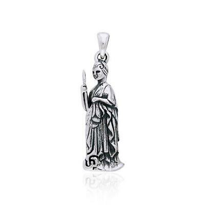 Minerva Athena Goddess of Wisdom Sterling Silver Pendant by Peter Stone
