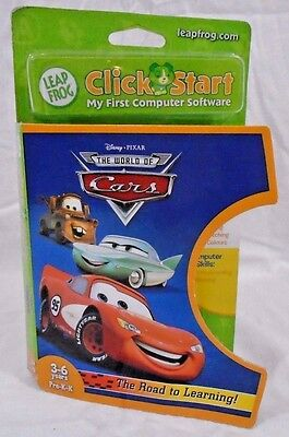 Leap Frog Click Start Cars Software New in Package