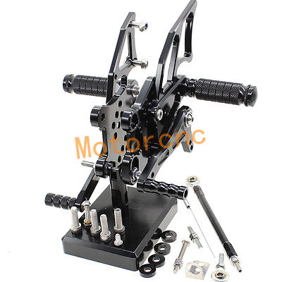 Black CNC Rear Set Rearset Foot pegs For Yamaha YZF R25/R3/MT-25 2015-2016