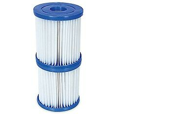 Bestway Filter Cartridge for 530gph & 800gph Pool Pump,  Numeral II, 2 Pack