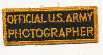 Official US Army Photographer patch real WWII make US Army