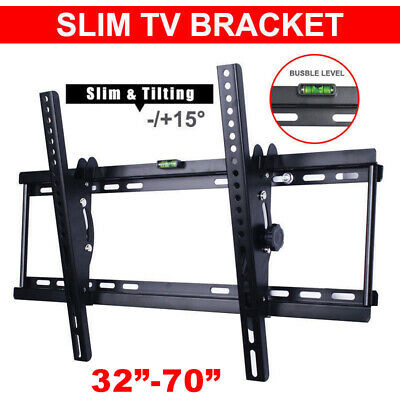 Tilt LCD TV Wall Mount Bracket LED Flat Plasma 32 37 40 42 46 50 55 60 62 65 70