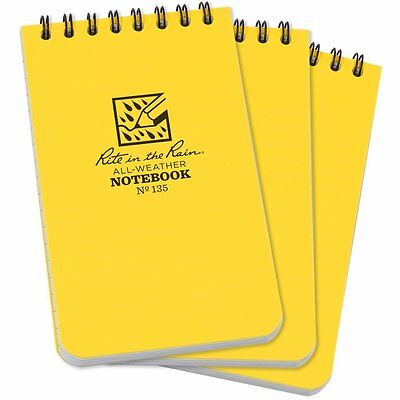 Rite in the Rain 135 Pocket Notebook 3-Inch x 5-Inch 3 Pack