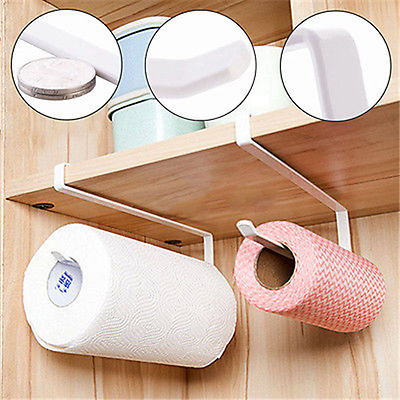 Stainless Steel Sucker Tissue Paper Towel Roll Holder Rack Over Door Kitchen
