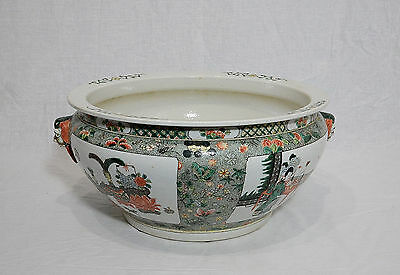 Large  Chinese  Wu-Cai  Porcelain  Basin     M525