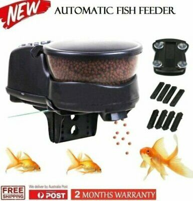 NEW Anti Jam 99 Days Automatic Fish Feeder Aquarium Tank Timer Food Dispenser