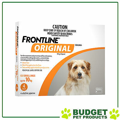 Frontline Original For Small Dog Upto 10kg 4 Pack
