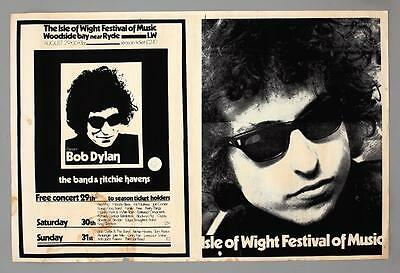 BOB DYLAN The Who - mega rare original Isle of Wight 1969 concert poster