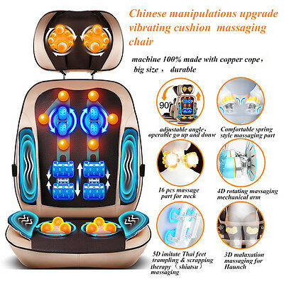 Auto Chinese & Thai Massage Chair / Cushion Neck Back Haunch Massager