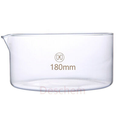 Deschem 180mm*90mm,Glass Crystallizing Dish,18cm,New Lab Chemistry Glassware